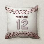Jugador número 12 - puntadas frescas del béisbol almohada