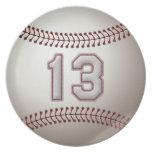 Jugador número 13 - puntadas frescas del béisbol plato