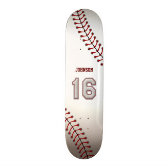 Jugador número 16 - puntadas frescas del béisbol monopatín personalizado