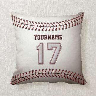 Jugador número 17 - puntadas frescas del béisbol cojín decorativo
