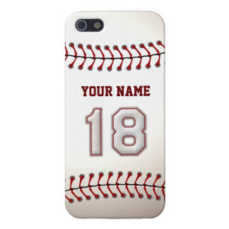 Jugador número 18 - puntadas frescas del béisbol iPhone 5 carcasas