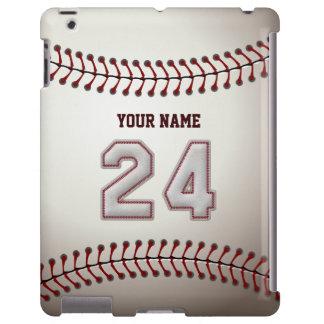 Jugador número 24 - mirada fresca de las puntadas funda para iPad