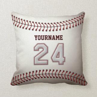 Jugador número 24 - puntadas frescas del béisbol cojín decorativo