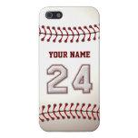 Jugador número 24 - puntadas frescas del béisbol iPhone 5 cárcasa