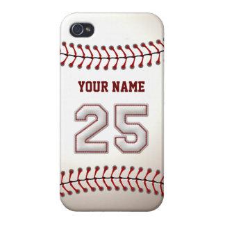 Jugador número 25 - puntadas frescas del béisbol iPhone 4/4S funda