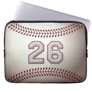 Jugador número 26 - puntadas frescas del béisbol fundas portátiles