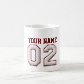 Jugador número 2 - puntadas frescas del béisbol taza de café
