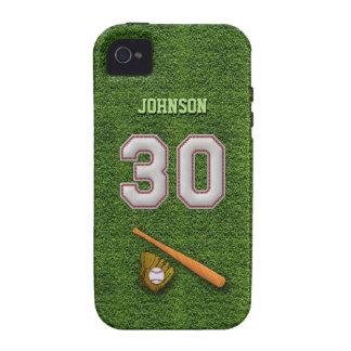 Jugador número 30 - puntadas frescas del béisbol iPhone 4/4S carcasa