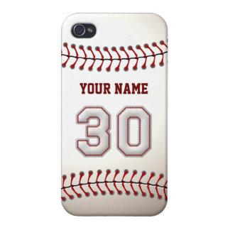 Jugador número 30 - puntadas frescas del béisbol iPhone 4/4S fundas