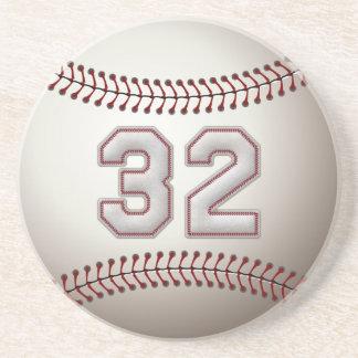 Jugador número 32 - puntadas frescas del béisbol posavasos manualidades