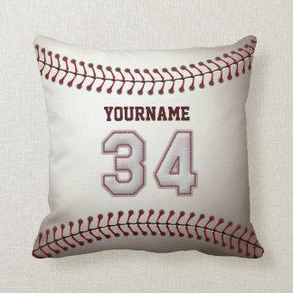Jugador número 34 - puntadas frescas del béisbol almohada