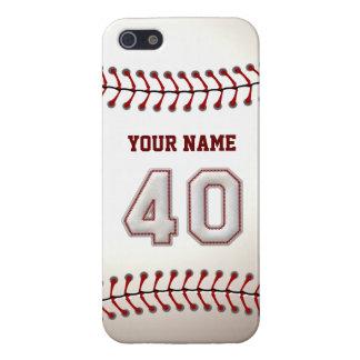 Jugador número 40 - puntadas frescas del béisbol iPhone 5 fundas