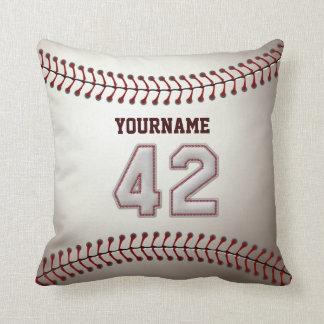Jugador número 42 - puntadas frescas del béisbol cojines