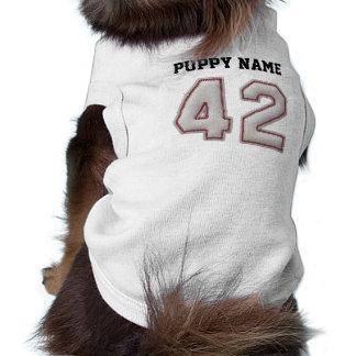 Jugador número 42 - puntadas frescas del béisbol playera sin mangas para perro