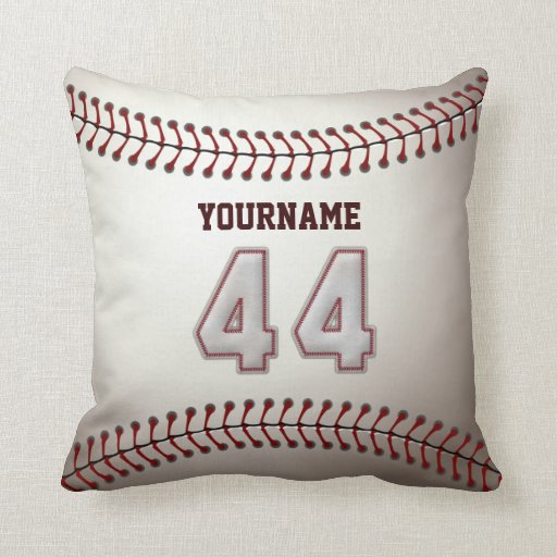 Jugador número 44 - puntadas frescas del béisbol almohada