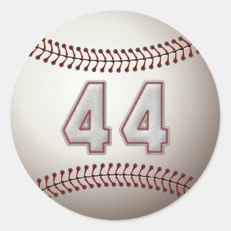 Jugador número 44 - puntadas frescas del béisbol pegatina redonda