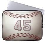 Jugador número 45 - puntadas frescas del béisbol manga computadora