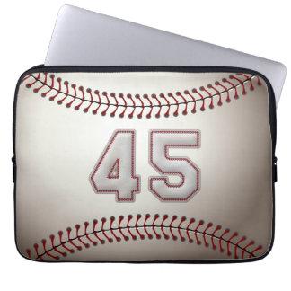 Jugador número 45 - puntadas frescas del béisbol mangas portátiles