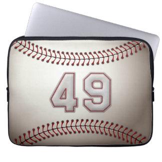 Jugador número 49 - puntadas frescas del béisbol fundas ordendadores