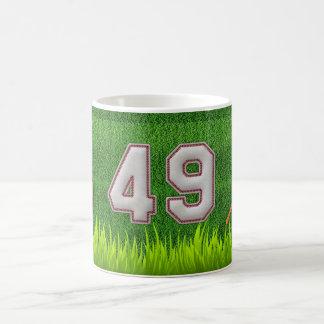 Jugador número 49 - puntadas frescas del béisbol tazas