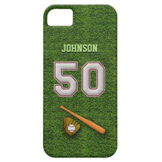 Jugador número 50 - puntadas frescas del béisbol iPhone 5 Case-Mate cobertura