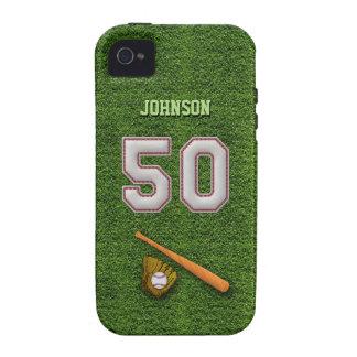 Jugador número 50 - puntadas frescas del béisbol iPhone 4/4S fundas