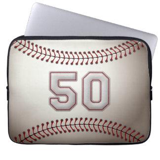 Jugador número 50 - puntadas frescas del béisbol funda portátil