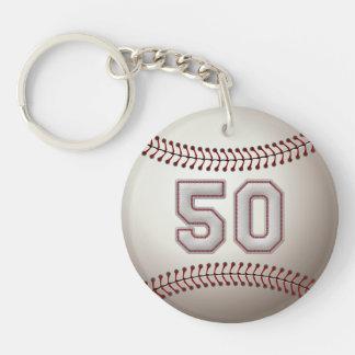 Jugador número 50 - puntadas frescas del béisbol llavero