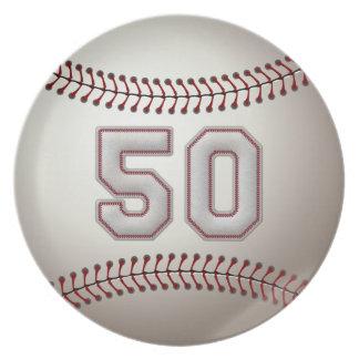 Jugador número 50 - puntadas frescas del béisbol plato