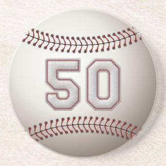 Jugador número 50 - puntadas frescas del béisbol posavasos diseño