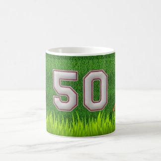Jugador número 50 - puntadas frescas del béisbol taza