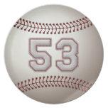 Jugador número 53 - puntadas frescas del béisbol platos de comidas