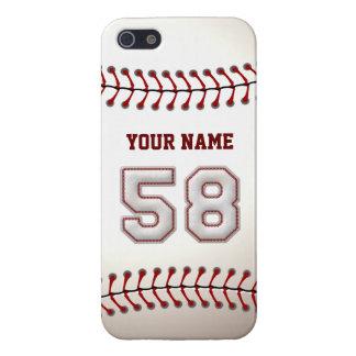 Jugador número 58 - puntadas frescas del béisbol iPhone 5 carcasa