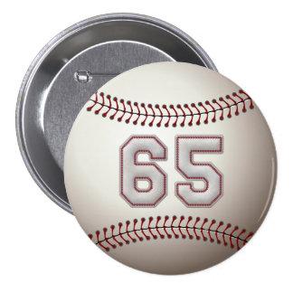 Jugador número 65 - el béisbol fresco cose los per pin