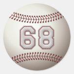 Jugador número 68 - puntadas frescas del béisbol etiquetas