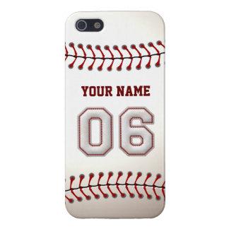 Jugador número 6 - puntadas frescas del béisbol iPhone 5 funda
