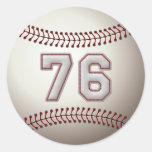 Jugador número 76 - puntadas frescas del béisbol pegatinas