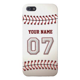 Jugador número 7 - puntadas frescas del béisbol iPhone 5 carcasa