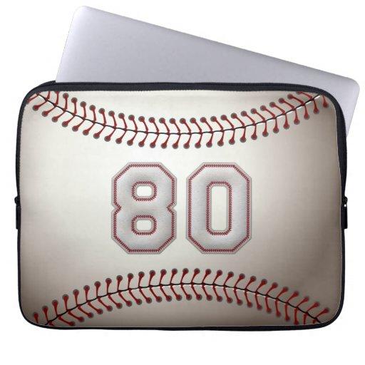 Jugador número 80 - puntadas frescas del béisbol fundas ordendadores