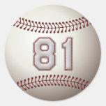 Jugador número 81 - puntadas frescas del béisbol pegatinas