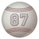 Jugador número 87 - puntadas frescas del béisbol plato