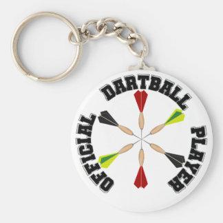 Jugador oficial de Dartball Llavero Redondo Tipo Pin
