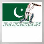 Jugador paquistaní del grillo impresiones