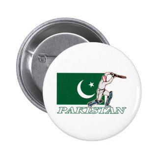 Jugador paquistaní del grillo pin redondo de 2 pulgadas