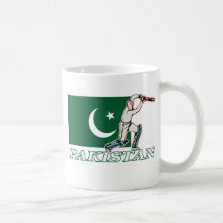 Jugador paquistaní del grillo taza de café