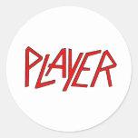 jugador pegatina redonda