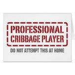 Jugador profesional de Cribbage Felicitaciones