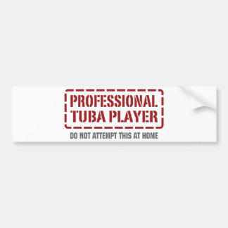 Jugador profesional de la tuba pegatina de parachoque