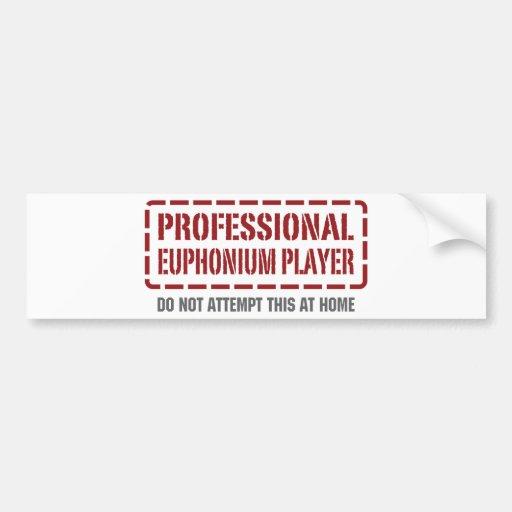 Jugador profesional del Euphonium Pegatina Para Auto