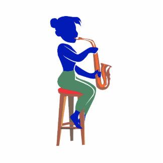 jugador que se sienta femenino blue.png abstracto  esculturas fotograficas